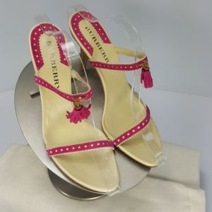 Burberry Made in Italy slide sandals size 40 New